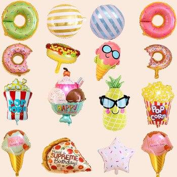 1 шт. в комплекте, детское пончики мороженое Фольга шар аппетитных цветов Форма Алюминий надувные шары День рождения Декорации Дети пользу игрушки|Воздушные шары и аксессуары|   | АлиЭкспресс