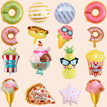 Balloons Donuts Ice-Cream-Foil-Balloon Birthday-Party-Decorations Inflatable Kids Aluminum