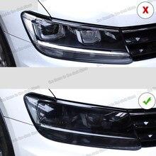 Lsrtw2017 – Film de protection des phares de voiture, autocollant anti-rayures en TPU noir Transparent pour Volkswagen tiguan 2017 2018 2019 2020