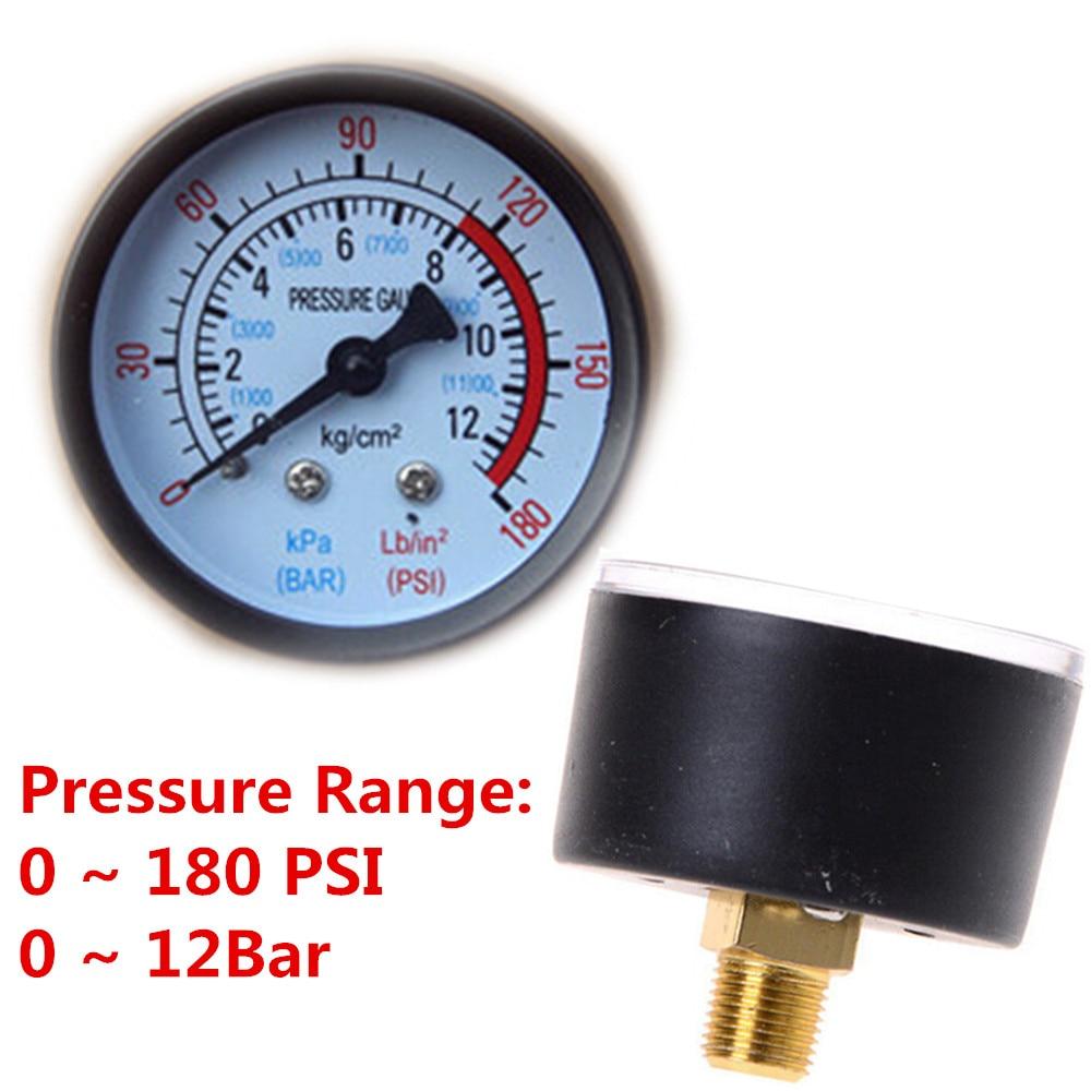 Hot Selling! Air Compressor Pneumatic Hydraulic Fluid Pressure Gauge 0-12Bar / 0-180PSI
