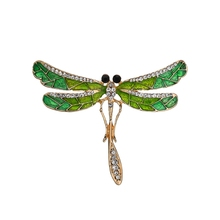 Gariton Fashion Rhinestone Dragonfly Brooch Pin Decorative Garment Accessories Animal