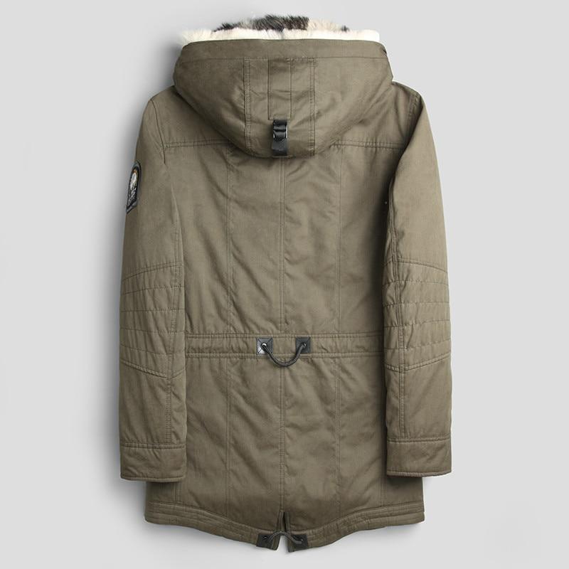 Real Coat Natural Wolf Fur Parka Men's Winter Jacket Male Streetwear Long Coats Luxury Warm Jackets Veste L18-1222 YY346