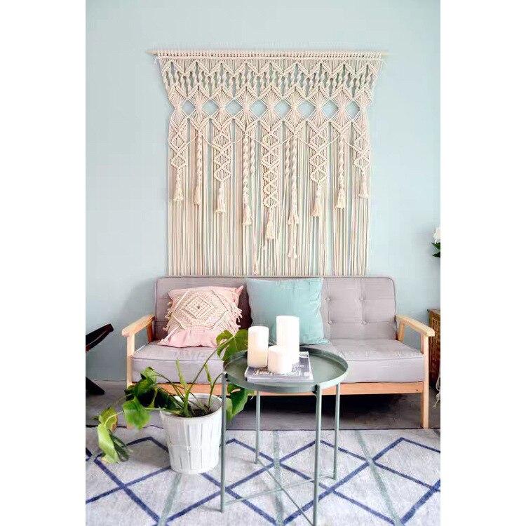 100% coton bohème tapisserie tissé à la main mur tapisserie rideau en plein air mariage décoration maison séjour hôtel tenture décor - 4