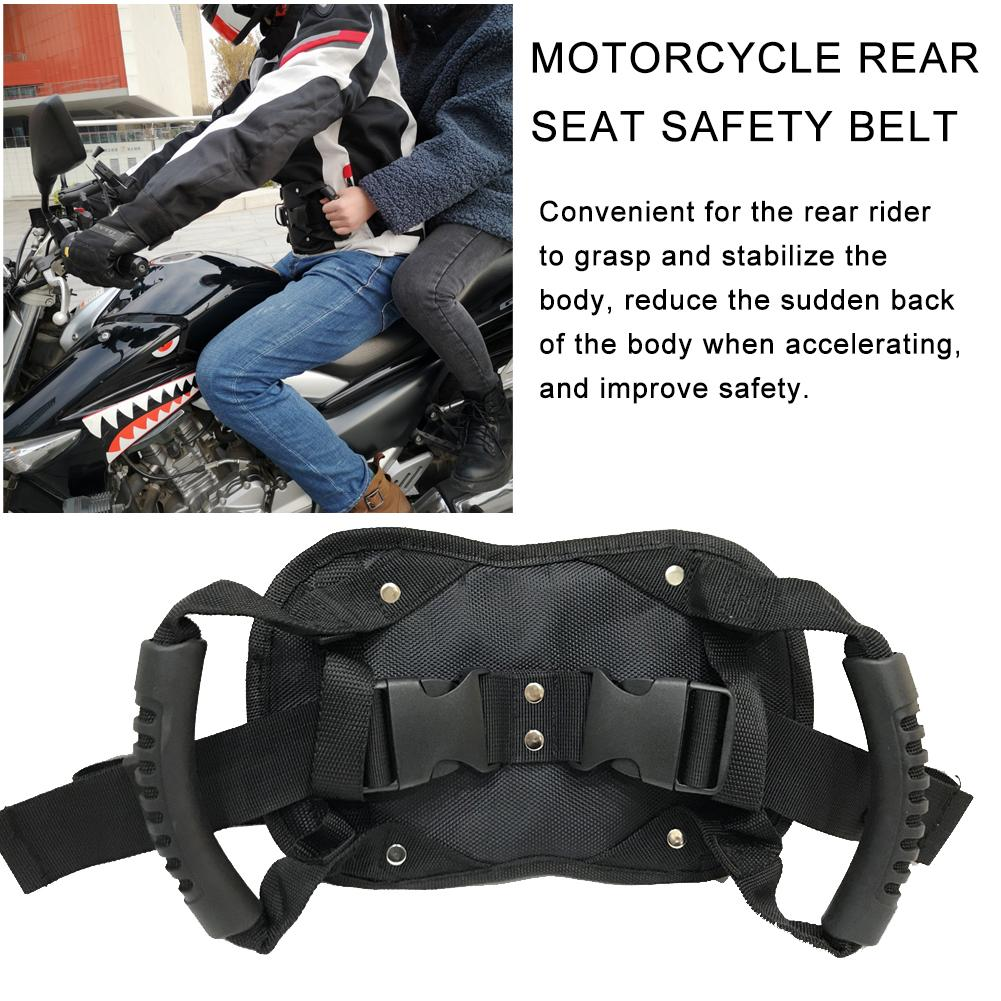 Motorcycle Safety Belt Rear Seat Passenger Grip Grab Handle Non-slip Strap With Handle For Children Free Shipping
