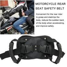 Cinto de segurança para motocicleta, cinto de segurança antiderrapante com alça, alça para pegada de passageiro
