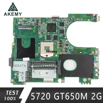 17R N7720 For DELL 5720 7720 motherboard CN-072P0M 072P0M motherboard DA0R09MB6H1 DA0R09MB6H3 2D GT650M 2GB work 100%