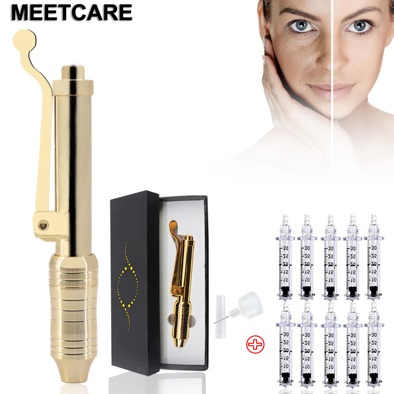 Hyaluronic Pen Lip Injection Hyaluronic Pen Gun Atomizer Multi Shoot Anti Wrinkle Pressure No Needle Mesotherapy Beauty Tips