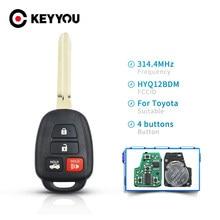 KEYYOU – clé télécommande à puce HYQ12BDM G, 2012 Mhz, pour Toyota Camry Corolla (2013, 2014, 2015, 2016, 2017, 314.4)