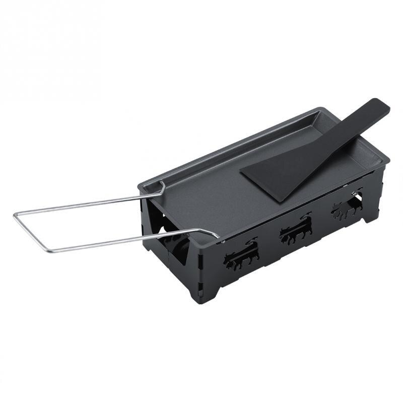 Non-Stick Metal Cheese Raclette Baking Pan Baking Tray Stove Frame Spatula Set Kitchen Baking Tool