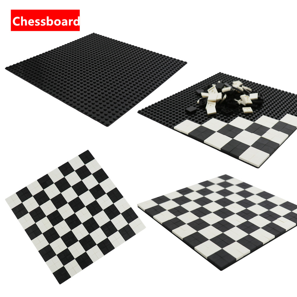 Model Building Blocks Moc Brick Flat Tires 2x2 International Chess Checkboard Pieces <font><b>Baseplate</b></font> Base Plate <font><b>32x32</b></font> Compatible Legoe image