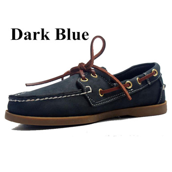 Mens Casual Leather Docksides Deck Lace Up Moccain Boat Loafers Shoes Driving Fashion Unisex Plus Size 22Colors Handmade shoes