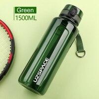 UZSPACE 1.5L бутылка для воды BPA бесплатная большая емкость портативный спортивный шейкер бутылка для напитков герметичная посуда для напитков б...