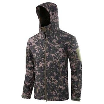 Winter Waterproof Hooded Jackets Outdoor Military Tactical Clothes Hiking Hunting Sports Jacket Coats Warm Windproof Windbreaker