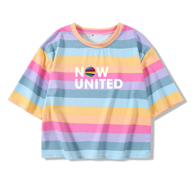 NOW UNITED CROP TOP T-SHIRT (4 VARIAN)
