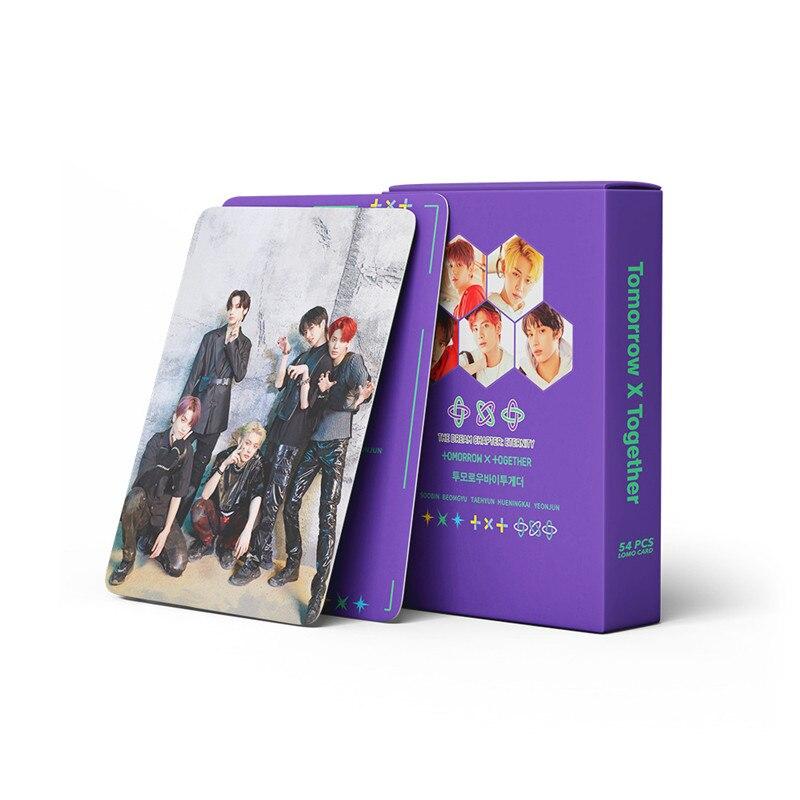 54 шт./компл. альбом Kpop TXT, фотокарточка, ломо-карточки, задняя фотография, фотоальбом, аксессуары для фанатов, подарки