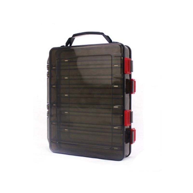 17*20 Cm/18.5*27.5 Cm Vissen Lokken Doos Dubbelzijdig Tackle Box Inktvis Jig Vissen Accessoire doos Vissen Lokt Visgerei - 4