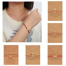 Rinhoo 1 комплект Золотое сердце круг геометрический кулон браслет и ожерелье набор украшений для женщин Женский изящный драгоценный подарок