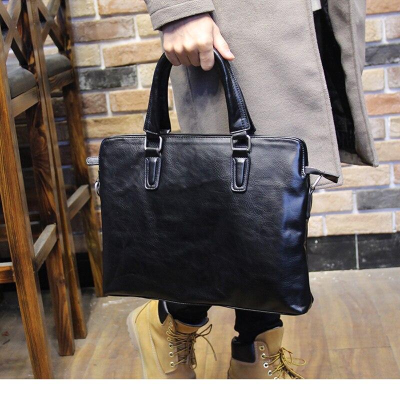 Brand Men Leather Briefcase High Quality Business Man Handbag Black Men Messenger Laptop Bag Casual Men Shoulder Bag