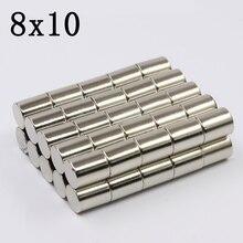 10/20/50/100Pcs 8x10 Neodymium Magnet…