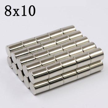 10/20/50/100Pcs 8x10 Neodymium Magnet 8mm x 10mm Super Powerful Strong Permanent Magnetic imanes N35 Round NdFeB 8X10