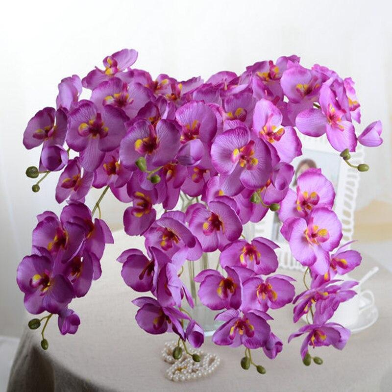 Новый искусственный цветочный букет фаленопсис для украшения дома и свадьбы