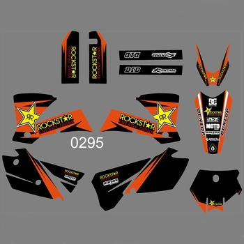 For KTM 125 200 250 300 450 525 SX 2003 2004 Graphics Decals Stickers Custom Number Name 3M Full Motorcycle Backgrounds