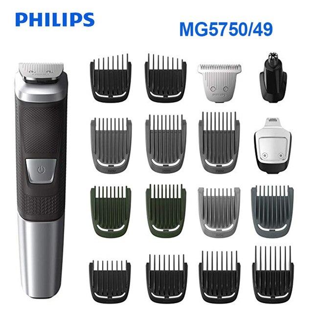 100% Original Philips Multifunktions Elektrische Rasierer Haar Clipper Hq MG5750/49 Multigroom Alle-In-One Trimmer Serie für Männer