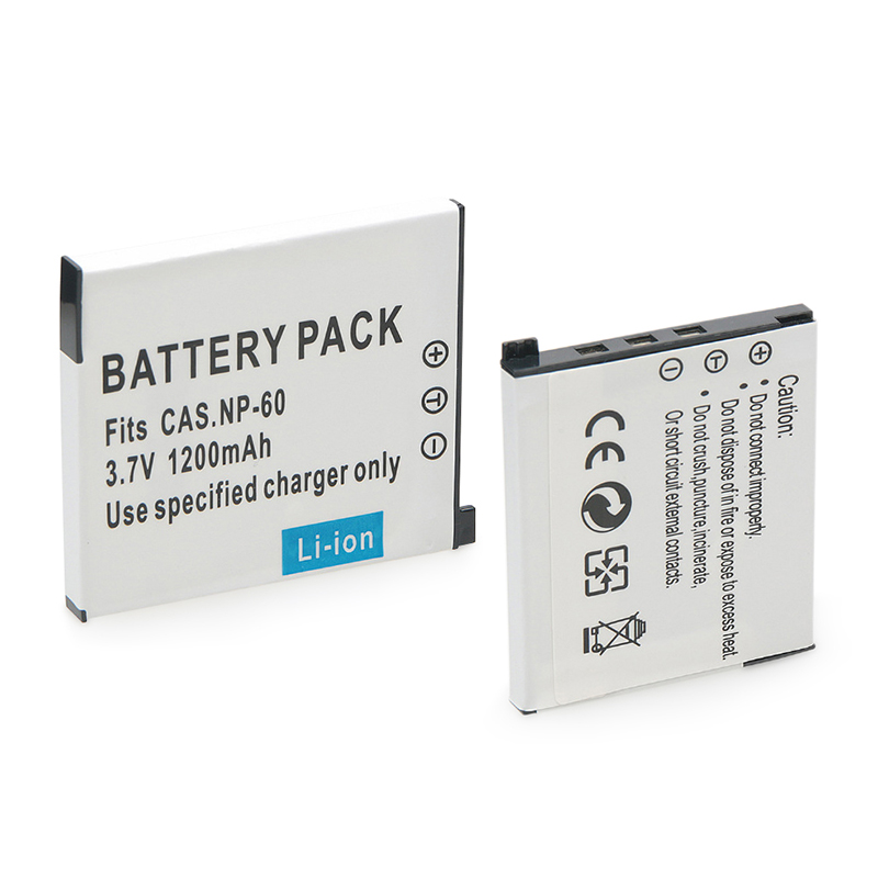 New 1200mAh NP-60 Camera Battery For CASIO NP-60 CNP-60 EX-Z80 S10 Z9 FS10 S12 Z20 Z29 Z85 QV-R3 R4 CNP-60 NP 60 CNP60 Battery(China)