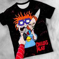 2019 Summer Hot New Customize Tees Movie Chucky 3D Printed Men's Tops Unique Clothing Short Sleeve T shirt Drop Shipping