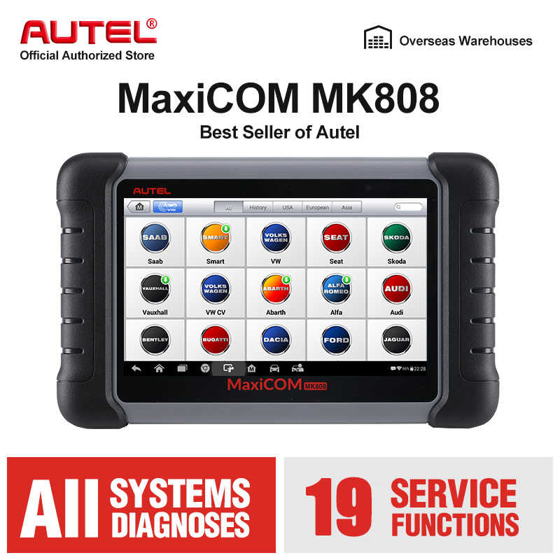 Autel Maxicom MK808 OBD2 Scanner Obdii Auto Diagnostic Tool Volledige Systeem Automotivo Scan Tool Key Codering Auto Code Reader Pk MX808