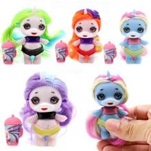Boneco de brinquedo para crianças, boneco original lol, surpresa, poopticas, com cabelo, silicone, slime, unicórnio bjd, boneco de brinquedo para meninas e crianças presente