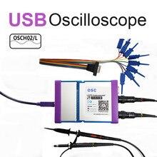 Yeni OSCH02 OSCH02M 2 CH USB PC sanal dijital osiloskop 100MHz 1GSa/s mantık analizörü jeneratör desteği Android