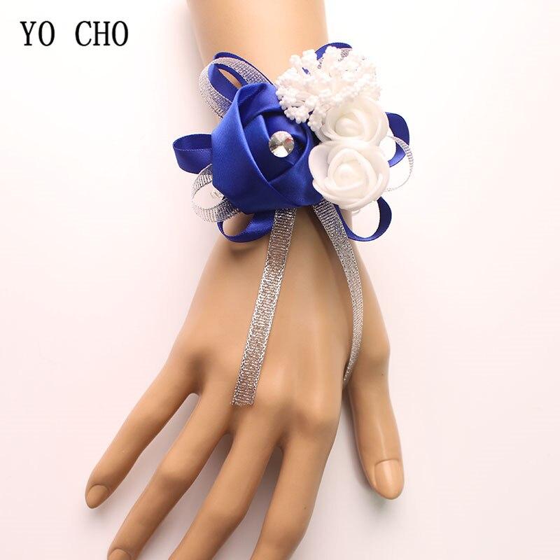 Высококачественный Шелковый корсаж на запястье с розами для подружки невесты, сестры, креативный дизайн, наручные крестовины для свадьбы, в...