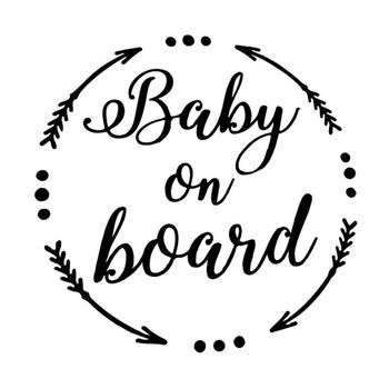 80% HOT SALES!!!New Arrival BABY ON BOARD Letter Reflective Warning Car Auto Sticker Decoration Gift image
