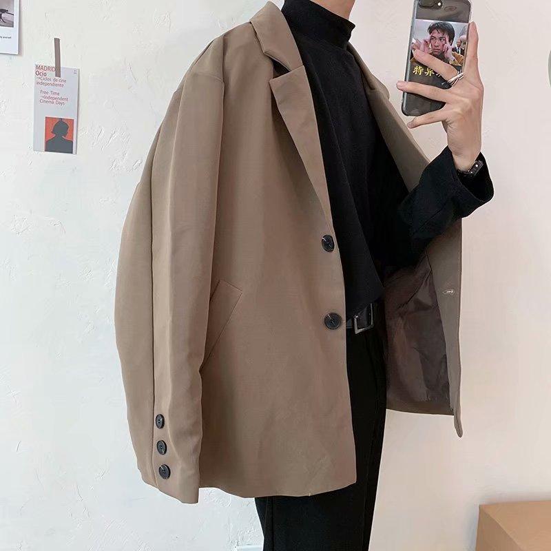 2020 Men's High Quality Suit Jackets Loose Coat Single Western Clothes Casual Blazer Cotton Coats Male Outerwear Plus Size M-XL