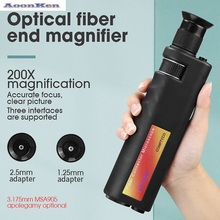 200x Fiber Optical Inspection Microscope LED Illumination Anti Slip Rubber AUA-200X