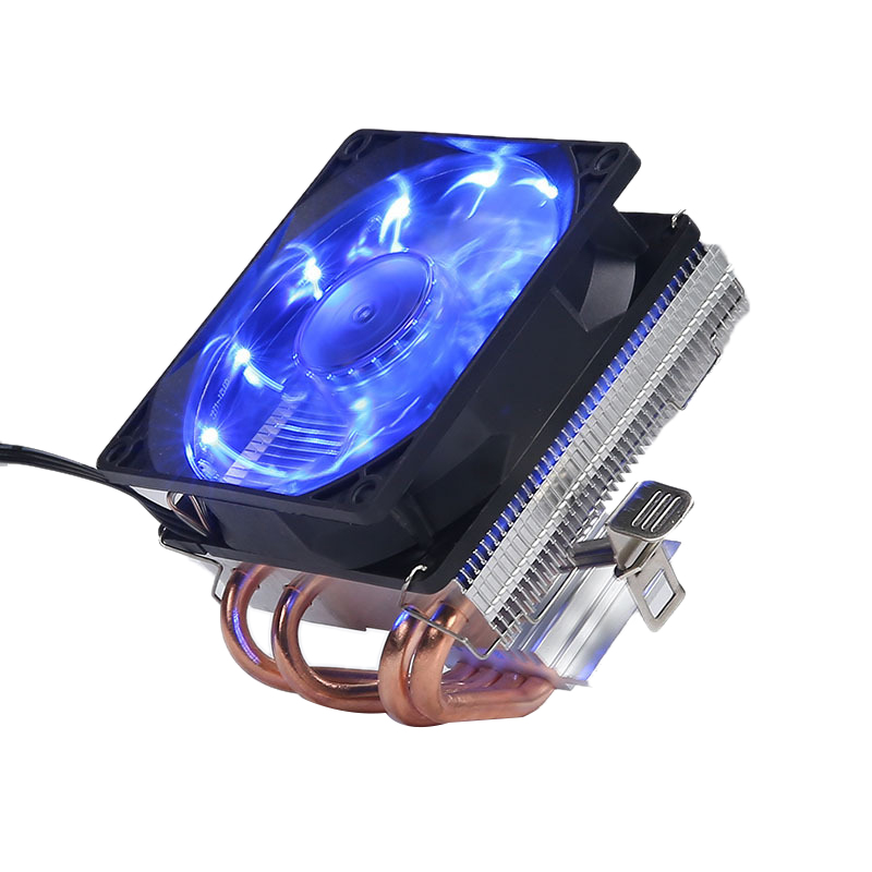 4 Heatpipes CPU <font><b>Cooler</b></font> 3Pin PWM LED 90mm Cooling Fan Radiator Heatsink for LGA 1150/1151/1155/<font><b>1156</b></font> for AMD Blu Ray image
