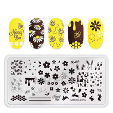 цена на Nail Stamping Plates Nail Template Flower Cartoon Mixed  Pattern Nail Stamp Nail Art Stamp Image Template