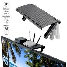 Tela multifunction prateleira superior tv tela superior prateleira de armazenamento rack suporte de armazenamento computador mesa pasta