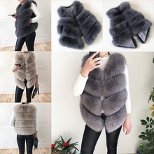 2020 new high-quality fur coat Real fox fur vest Women #8217 s natural fur vest 100 real fur jacket Genuine Leather Fur Waistcoat cheap OLOEY Casual Thick Warm Fur Ages 18-35 Years Old V-Neck Single Breasted REGULAR Sleeveless Thick (Winter) Full Pelt Fur with Striped Cut