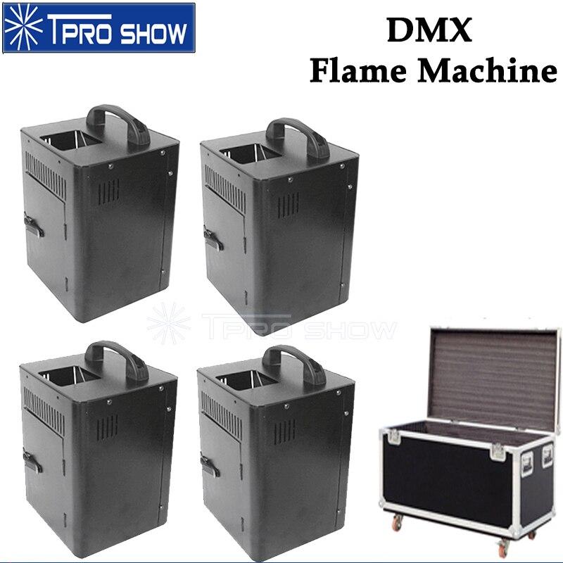 4 шт. пожарная машина сценический пламенный проектор Pyro с эффектом dmx контроль спрея пламя огонь работает для живого шоу диско DJ кейс вариант