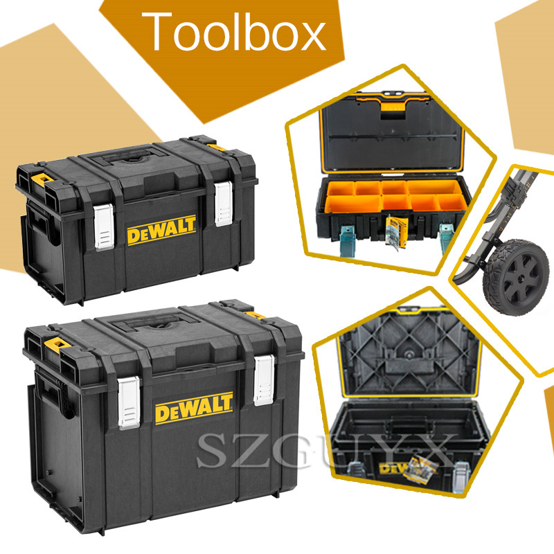 Waterproof And Dustproof Heavy Duty Portable Plastic DS150/300/400 Ochre Series Toolbox Multi-function Toolbox