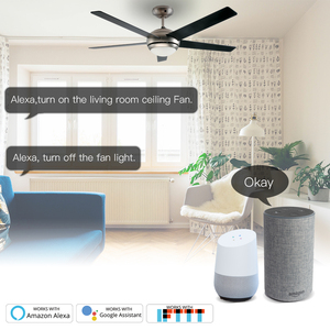 Image 3 - WiFi Smart Ceiling Fan Light Lamp Wall Switch Smart Life/Tuya APP Remote Various Speed Control Works with Alexa Echo Google Home