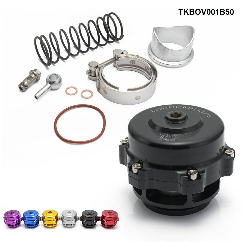 Universal Jdm 50mm V banda Blow Off válvula BOV Q Typer con soldadura en brida de aluminio TKBOV001B50