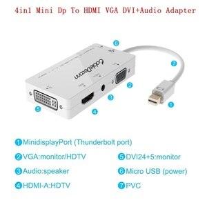 Image 4 - Złącza Thunderbolt Mini DisplayPort do VGA/HDMI/DVI/gniazdo Audio AUX adapter do Apple iMac laptopa Microsoft Sufacepro 2,3, 4