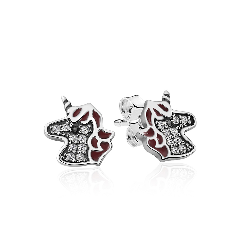 NEW 100% 925 Sterling Silver Spanish Bear Jewelry Women Earring19 Original Fashion Original Jewelry Gift Free Delivery