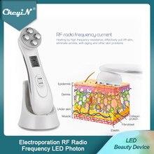 Dispositivo de mesoterapia para cuidado de la piel, electroporación RF, radiofrecuencia, fotones LED, belleza, eliminación de arrugas, masajeador Facial