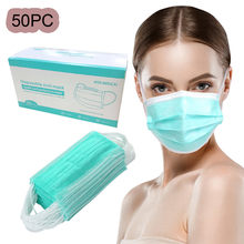 In Stock 50pcs Disposable Face Mouth Denta Industrial 3ply Earloop For Cycling Climbing Personal Health Care Dropshipping(China)