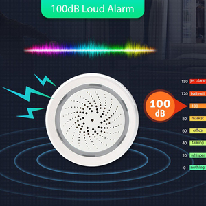 Image 2 - Tuya Wifi Intelligent Siren Sound Alarm Temperature Humidity Sensor APP Control Wireless Secure System WiFi USB Voice Control