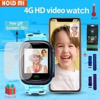 4G Smart Watch IP67 impermeabile Smartwatch per bambini SOS GPS Wifi Tracker videocamera videochiamata orologio per bambini aggiungi temperatura chipPK LT21